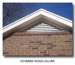 picture of a covered wood louver