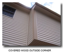 picture of a covered wood outside corner
